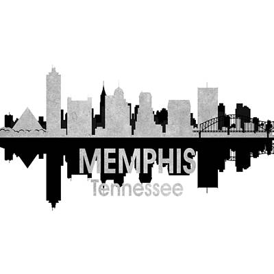 Memphis Tn 4 Squared Art Print by Angelina Vick