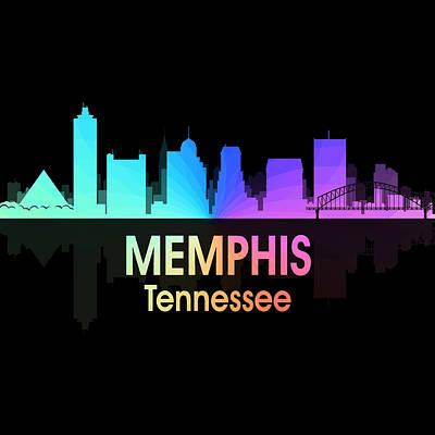 Memphis Tn 5 Squared Art Print by Angelina Vick
