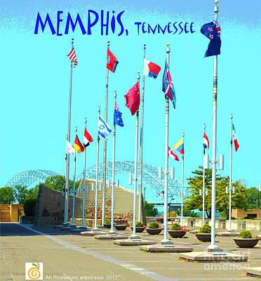 Artpro.com Digital Art - Memphis Today by Karen Francis