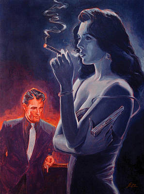Pulp Painting - Men And Cigars Were The Same To Zelda- If You Got Em - Smoke Em by Shawn Shea