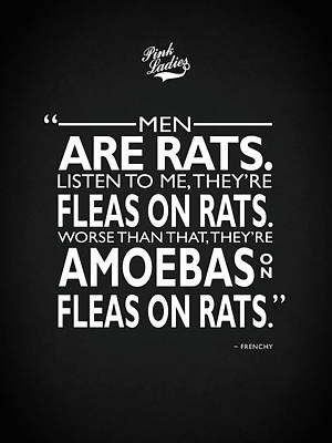 John Travolta Photograph - Men Are Rats by Mark Rogan