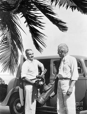 Retiree Photograph - Men Arriving At Golf Course, C.1930s by H. Armstrong Roberts/ClassicStock