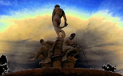 Men Of Greece Art Print by David Lee Thompson