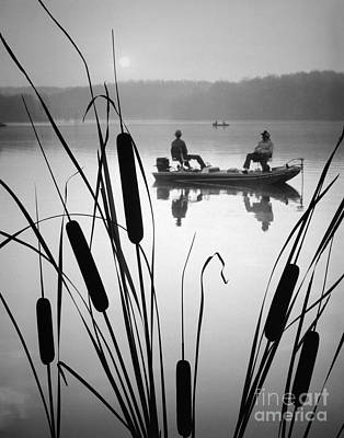 Photograph - Men On Fishing Boat by H. Abernathy/ClassicStock