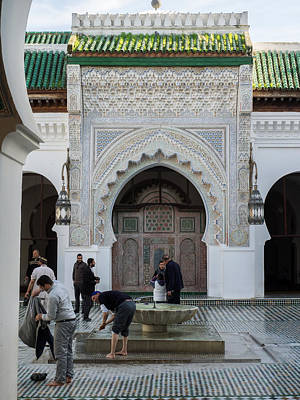 Moroccan Culture Photograph - Men Performing Ablutions Prior by Panoramic Images