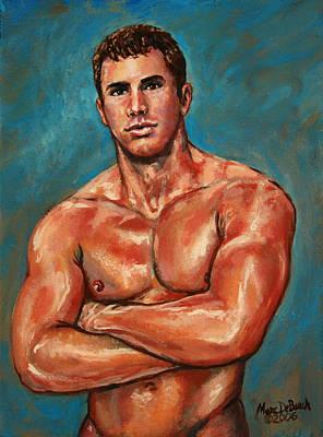 Man Sweat Art Print