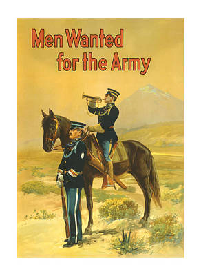 War Horse Painting - Men Wanted For The Army by War Is Hell Store