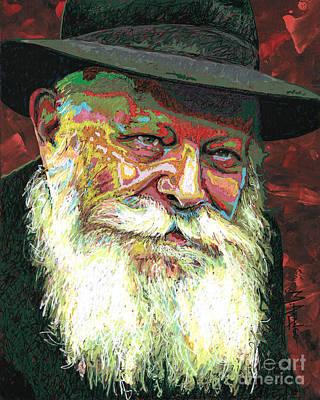 Painting - Menachem Mendel Schneerson by Maria Arango