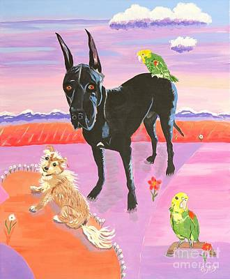 Painting - Menagerie Of A Friend by Phyllis Kaltenbach