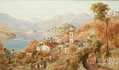 Menaggio Lake Como Art Print by Celestial Images