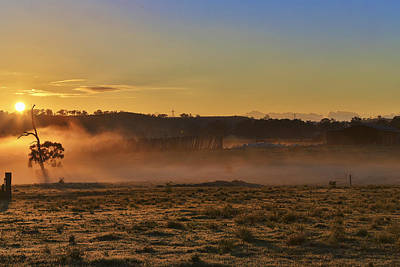 Photograph - Menangle Farm Sunrise by Kenneth Hall