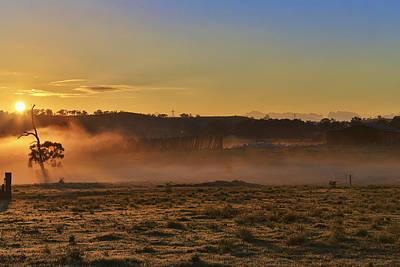 Photograph - Menangle Farm Sunrise by Kenneth Hall