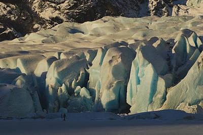 Glacier Alaska Painting - Mendenhall Glacier Alaska by Yulia Kazansky