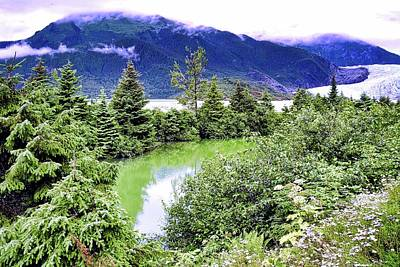 Photograph - Mendenhall Glacier And Lake by Kirsten Giving