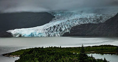 Art Print featuring the photograph Mendenhall Glacier by Ed Clark