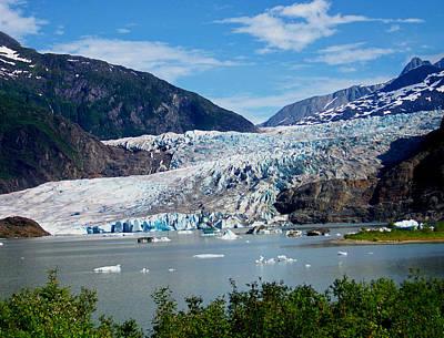 Photograph - Mendenhall Glacier by Judy Wanamaker