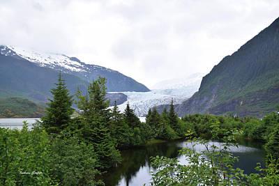 Mendenhall Glacier Painting - Mendenhall Glacier Juneau Alaska by Barbara Snyder