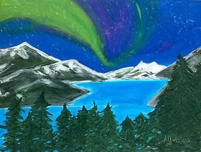 Mendenhall Glacier Painting - Mendenhall Glacier Lights by Shelia Gallaher Chancey