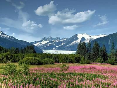 Photograph - Mendenhall Glacier Near Juneau Alaska by Michael Ziegler