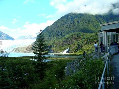 Photograph - Mendenhall Glacier View From Center by Janette Boyd