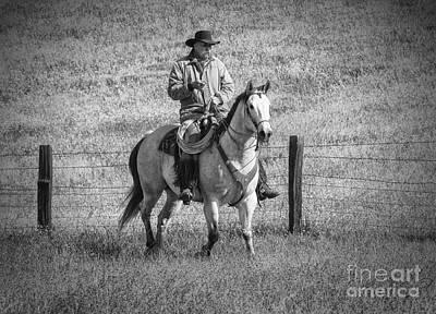 Fencepost Photograph - Mending Fences - Montana by Sandra Bronstein