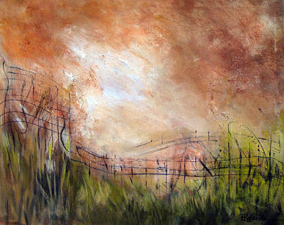 Painting - Mending Fences by Roberta Rotunda