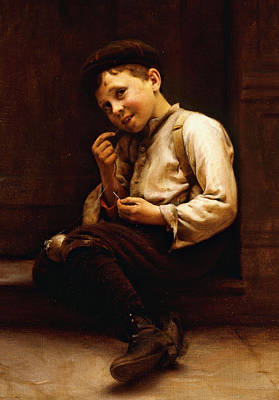Fixing Painting - Mending The Baseball by Karl Witkowski