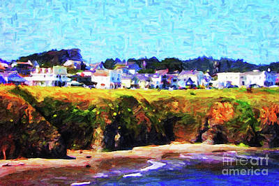 Mendocino California Coast Photograph - Mendocino Bluffs by Wingsdomain Art and Photography
