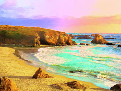 Painting - Mendocino Coast Sunset by Dominic Piperata