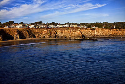 Mendocino Coastal Town Art Print by Garry Gay