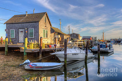 Photograph - Menemsha Basin Early Light I by Clarence Holmes