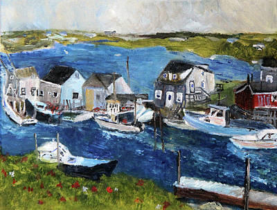 Painting - Menemsha Fishing Village by Michael Helfen