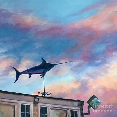 Painting - Menemsha Flying Fish by Lynne Schulte