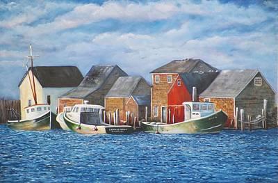 Menemsha Harbor Original by Michael McGrath