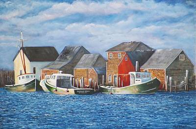 Michael Mcgrath Painting - Menemsha Harbor by Michael McGrath
