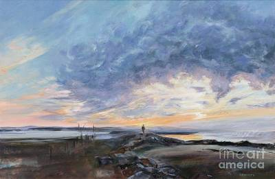 Painting - Menemsha Sunset by Lynne Schulte