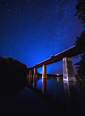 Summer Cottage Photograph - Menesetung Bridge by Cale Best