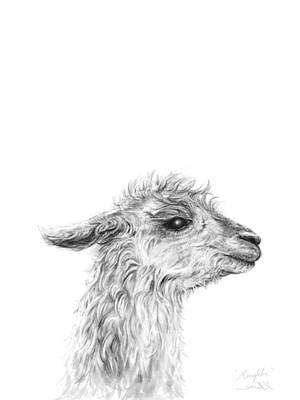 Animals Drawings - Mengkha by K Llamas