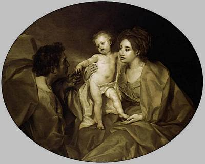 Anton Digital Art - Mengs Anton Raphael The Holy Family by Anton Raphael Mengs