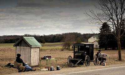 Photograph - Mennonite Family by Douglas Pike