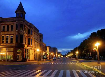 Photograph - Menominee Michigan Night Lights by Ms Judi