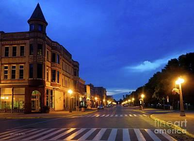 Photograph - Menominee Michigan Night Lights by Ms Judi