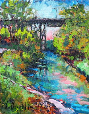 Painting - Menominee Viaduct by Les Leffingwell