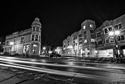 Cj Schmit Royalty-Free and Rights-Managed Images - Menomonee and Underwood at Night by CJ Schmit