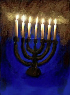 Digital Art - Menorah by Jennifer Page
