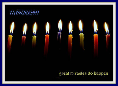 Photograph - Hanukkah Candles by Lori Pessin Lafargue