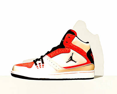 Mens Air Jordan High Tops 20160227 Horizontal Art Print