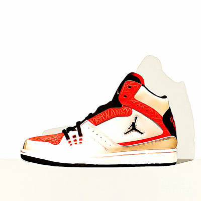 Mens Air Jordan High Tops 20160227 Square Art Print