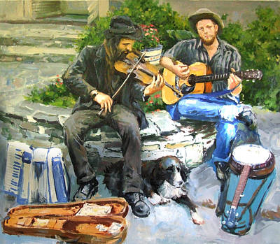 Violin Painting - Mens Best Friend by Conor McGuire