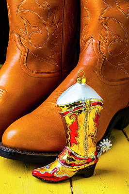 Photograph - Men's Boots And Ornament by Garry Gay